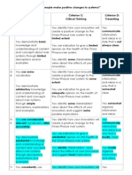 ASSESSMENT - IDU - Humanities Rubric