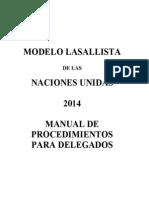 modelo lasallista de las naciones unidas 2014 - delegados