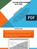 Cálculo de Población Promedio