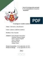 Informe Carbonatos y Bicarbonatos