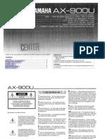 Manual Amplificador en AX-900