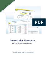Manual Gerenciador Financeiro