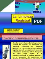 2011 La Limpieza Registral.-unica
