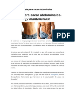 Dieta Para Sacar Abdominales