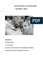 Ageing and Its Effect on Denture Bearing Area