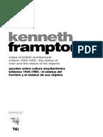 Apuntes Sobre Cultura Arquitectonica Britanica 1945 1965 - Frampton
