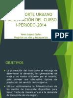 Transporte Urbano.presentación Del Curso