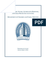Louisiana Legislative Auditor's Report on the Department of Children and Family Services - April 2014