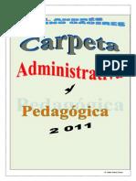 Esquema Carpeta Pedagógica 2011