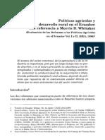 Políticas agrícolas y desarrollo rural en el Ecuador.pdf