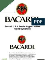 Bacardi U.S.a. Lends Support to New World Symphony