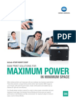 B&W print solutions for maximum power in minimum space