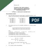 FHMM 1134 General Mathematics III Tutorial 3 2013 New