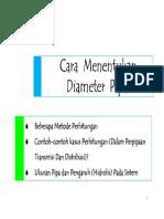 Cara Menentukan Diameter Pipa