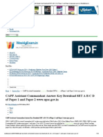 CAPF Assistant Commandant Answer Key Download SET a B C D of Paper 1 and Paper 2 Www.upsc.Gov.in _ WeeklyExam