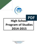 AIS Program of Studies 2014-2015