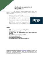 Técnicas y Dinámicas de Negociación de Alquiler de Inmueble (Borja Mateo)