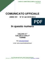 C.U.N.61del 22-04-2014