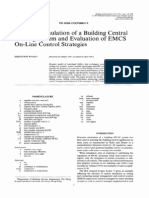 Dynamicsimulation of a Building Central Chilling System and Evaluation of EMCS on-line Control Strategies