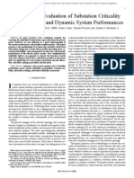 06685944 - Probabilistic Evaluation of Substation Criticality Based on Static and Dynamic System Performances