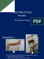 Osce Pro III Trial Answer