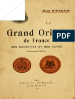 Bidegain Jean - Le Grand Orient de France Ses Doctrines Et Ses Actes[1] Copy