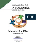 Kumpulan Arsip Soal UN Matematika SMA Program IPA Tahun 2002-2012 Per Bab