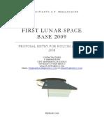 First Lunar Space Base