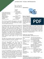 Oct09 Newsletter v2