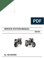Aprilia SL 750 Shiver Workshop Manual