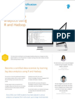 Data Scientist Certification With R and Hadoop