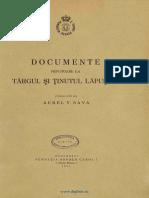 Sava, Aurel V. Documente privitoare la Târgul şi Ţinutul Lăpuşnei. 1937