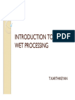 Introduction to Wet Processing