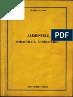 Alimentele - Miracolul Vindecarii - H.bieler - 150 Pag