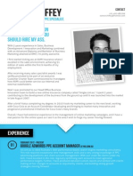 Eamon Chiffey Marketing CV