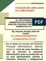 """""""El Procedimiento Administrativo General Como Base Del Proceso Contencioso Administrativo"""
