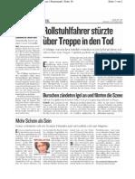 20060902 Kleine Zeitung - Moegler Selbstmord - Mann uebergoss sich mit Benzin zuendete sich an