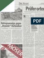 Kleine Zeitung - Betrugsanzeige gegen Deponie-Vorbesitzer