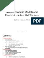 Macroeconomic Models and Events of the Last Half Century