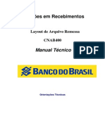 Layout - Cob Banco Do Brasil Cnab400 - Cbr641 - 6 Pos - Remessa