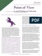 Smart Beta and Betting on Unicorns