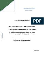 Actividades Para Escolares XXIX Feria Del Libro. Información General