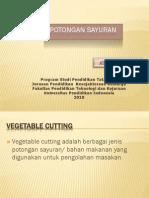 materi potongan sayuran