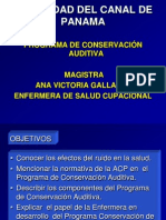 Conservacion Auditiva Ana Gallardo