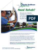 MG Rehab Flyer Print