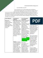 assessment plan lesson 1