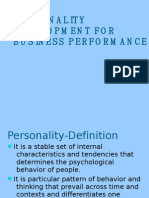 Trait & Type Theories of Personality