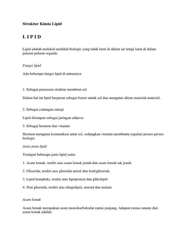 Struktur Kimia Lipid