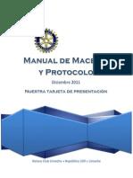 Manual de Maseria y Protocolo