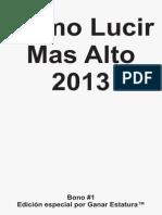 Como Lucir Mas Alto 2013